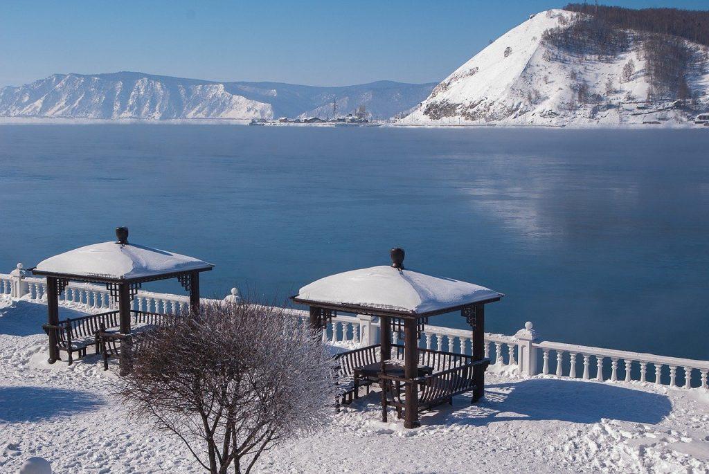 Lake Baikal frozen